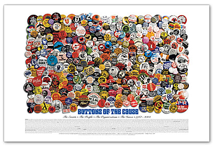 buttons for a cause poster: political button collection