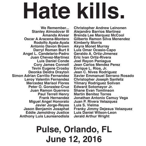 Hate Kills: Orlando pulse symbol