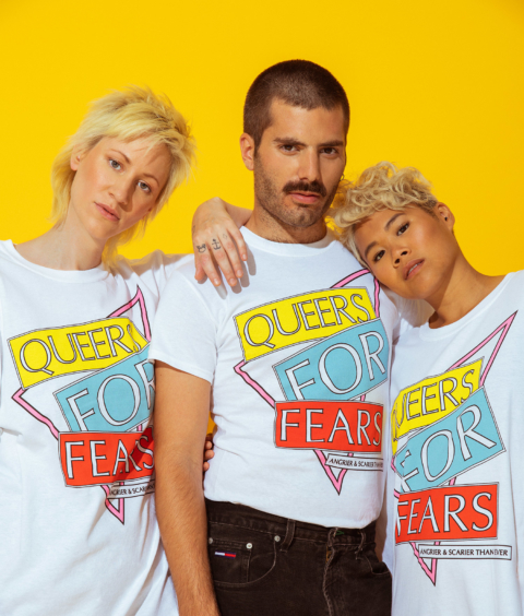revel and Riot Queers For Fears t-shirt