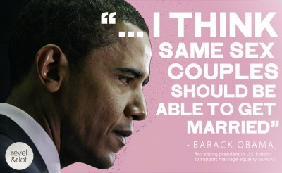 Obama and same sex marriage