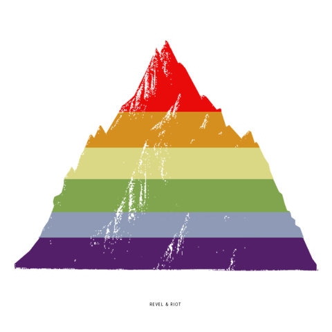 LGBTQ rainbow mountain