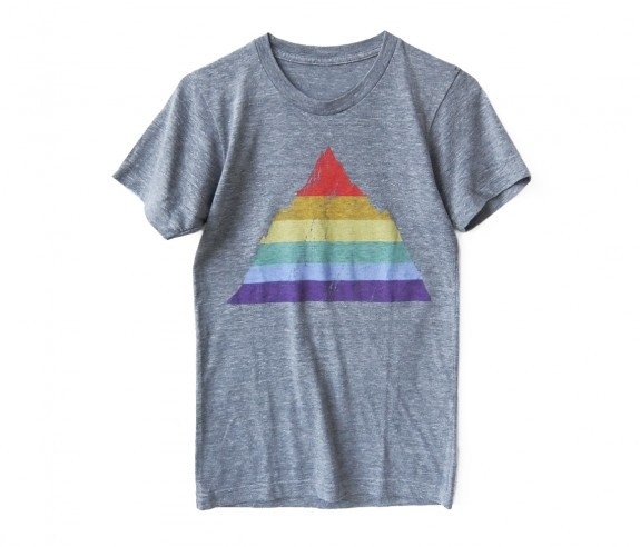 Revel & Riot rainbow mountain t-shirt